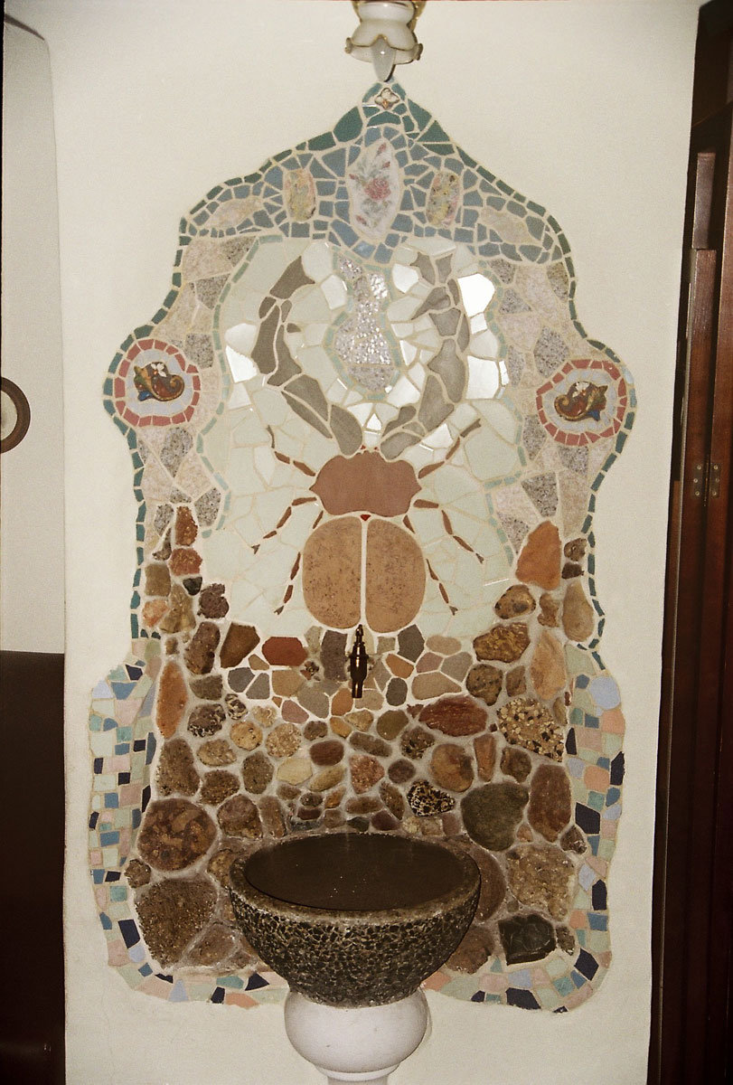 Mozaik v Čajni hišiTea house mosaic