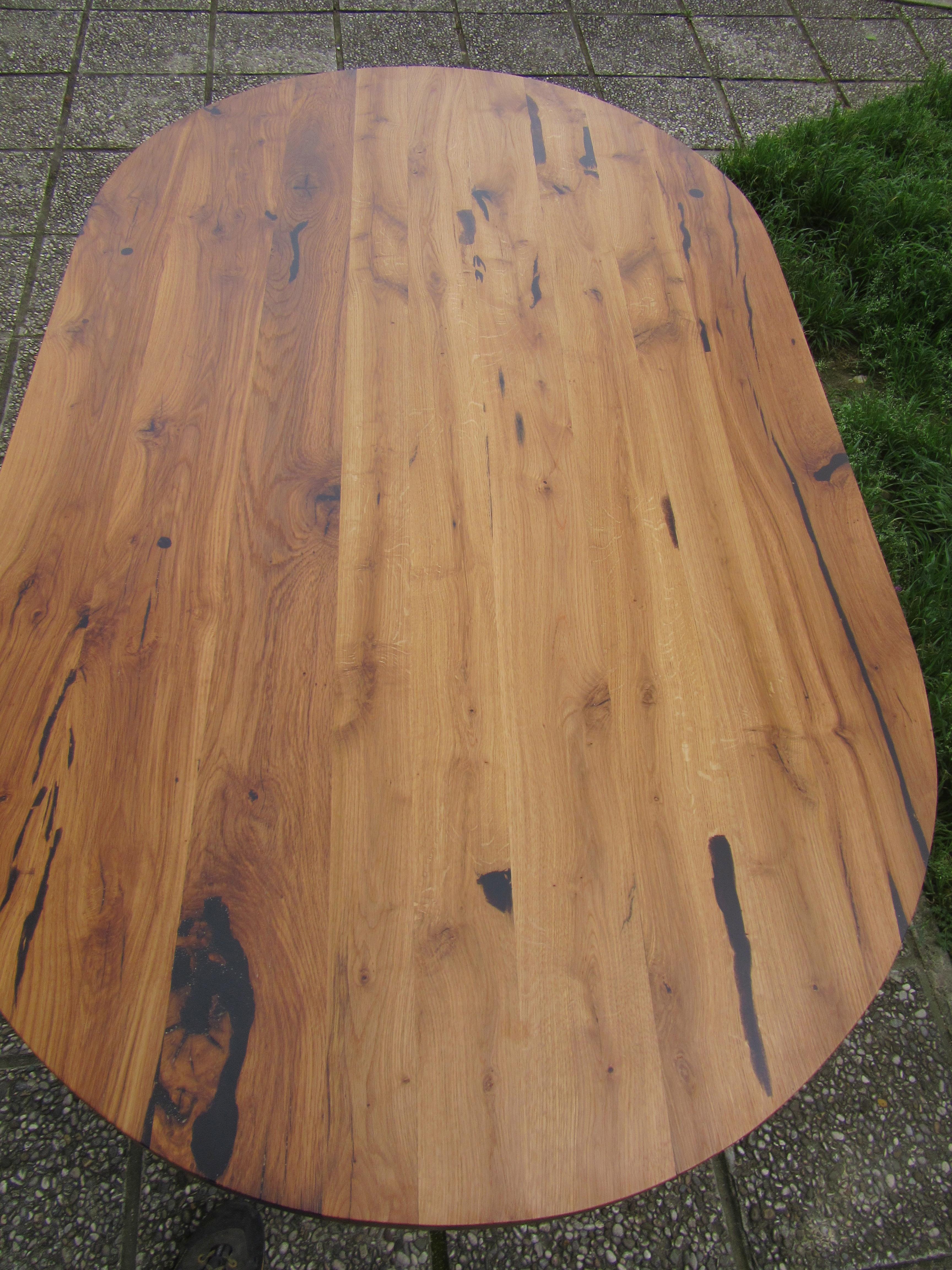 miza-stari hrast, železo